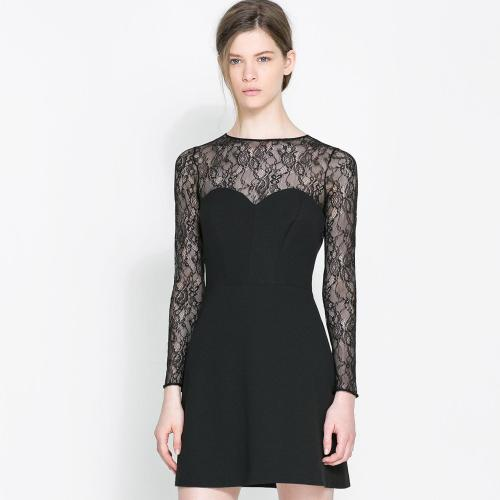 Medium Of Long Sleeve Lace Dress
