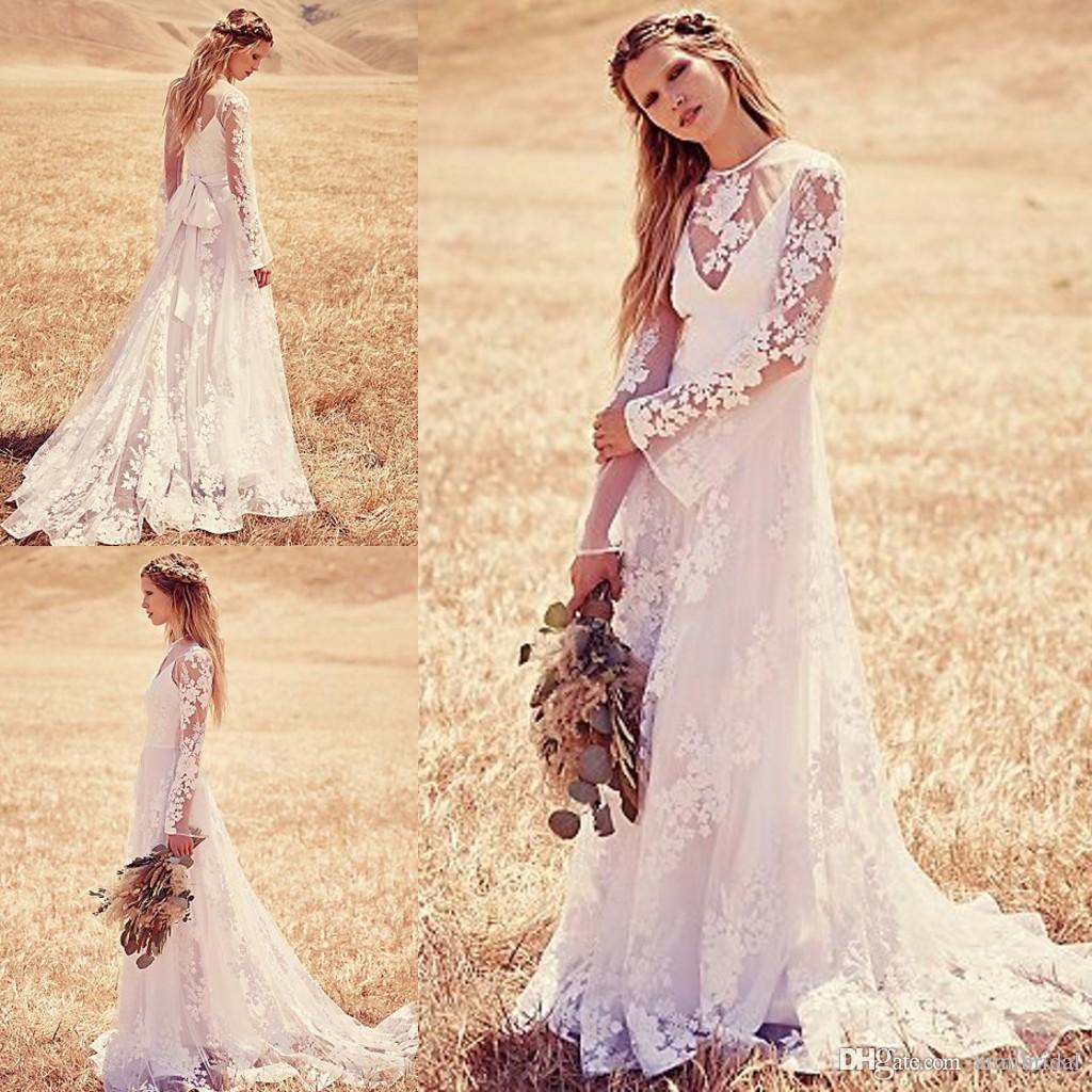 vintage bohemian wedding dresses bohemian wedding dress cheap Vintage Bohemian Wedding Dresses 12