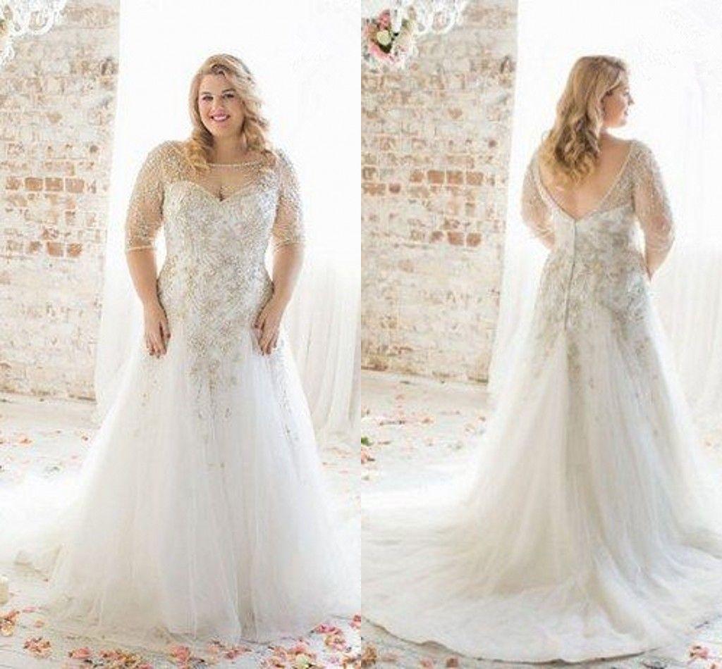 wedding dress plus size with sleeves plus size wedding dresses Wedding dress plus size with sleeves Plus Size Wedding Dresses With Lace Sleeves Plus Size