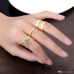 Lovely Hollow Leavesand Or Types Ring Engagement Rings Wedding Rings From Fashion Plated Jewelry Women Knuckle Rings Fashion Plated Jewelry Women Knuckle Rings Hollow