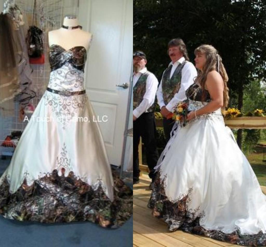 plus size white camo wedding dress camouflage wedding dress Plus size white camo wedding dress