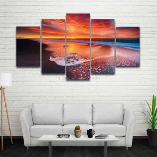 Trendy 2018 Canvas Art Prints Sea Water Beach Sunset Painting Seascape Home Decor Living Room Wall Background Hd Poster 2018 Canvas Art Prints Sea Water Beach Sunset Painting