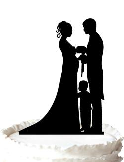 Small Of Bride And Groom Cake Topper