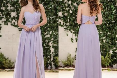 country style 2016 long bridesmaid dress