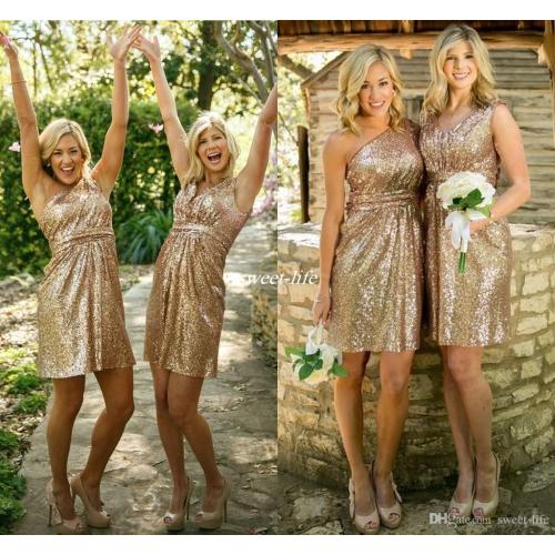 Medium Crop Of Gold Bridesmaid Dresses