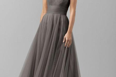 vintage grey bridesmaid dresses country style