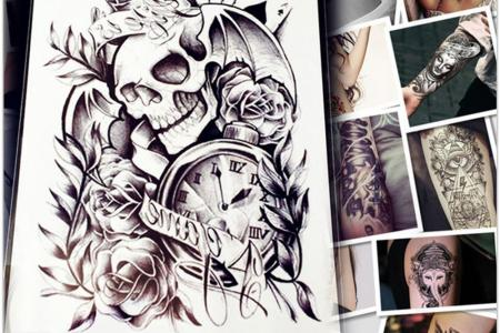 1pc makeup old clock temporary tattoo stickers