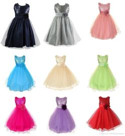 Smashing Online Cheap 2016 New Party Dresses Girls Dresses Girls Polyester Sequinsdresses Flower Children Clothing Girl Fashion Dresses Bybabykidsboutique Online Cheap 2016 New Party Dresses Girls Dre