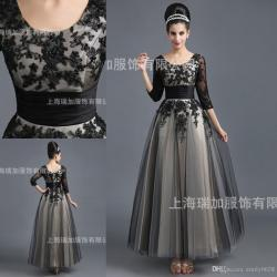 Exceptional In Stock Hot Selling Cheaper Sleeve Scoop Occasion In Stock Hot Selling Cheaper Sleeve Scoop Occasion Dressesankle Length Black Lace Appliques Long Evening Prom Party Dresses Eveningdresse