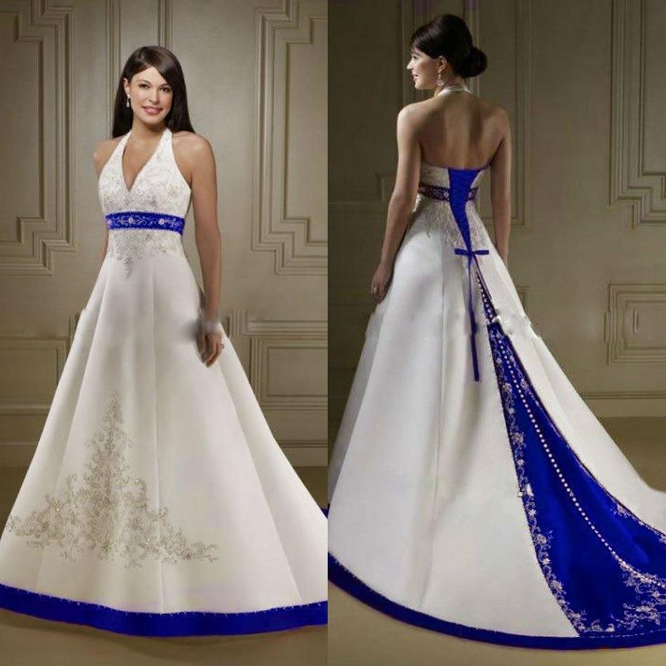 Fullsize Of Blue And White Wedding Dress