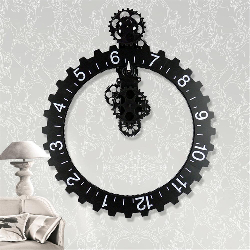 Fullsize Of Large Wall Clock With Gears