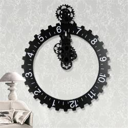 Small Crop Of Large Wall Clock With Gears