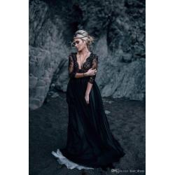 Small Crop Of Black Lace Wedding Dress