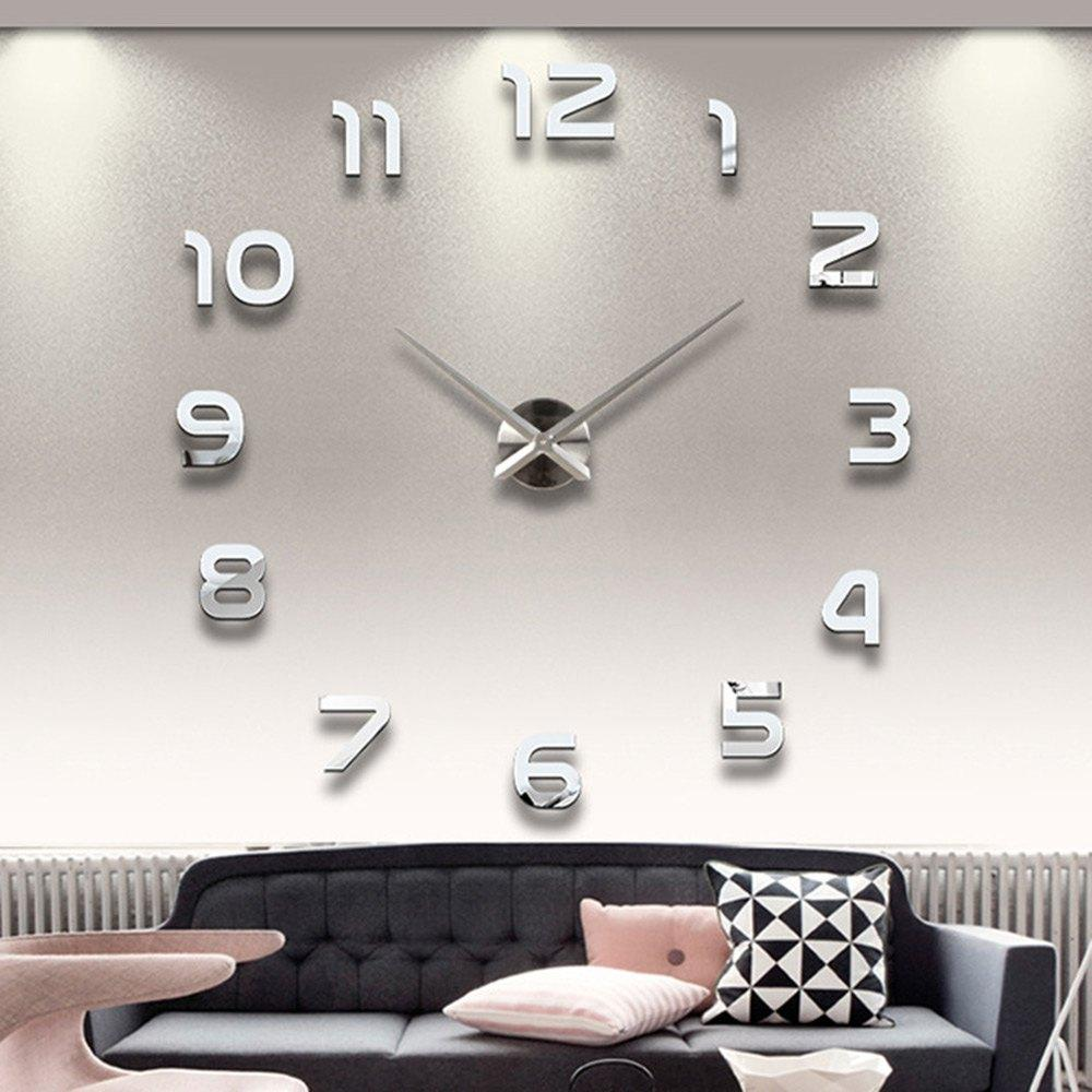 State Wholesale Home Decoration Big Number Mirror Wall Clock Design Largedesigner Wall Clock Watch Wall Gifts Large Round Wallclock Wholesale Home Decoration Big Number Mirror Wall Clock Design houzz-03 Large Wall Clocks