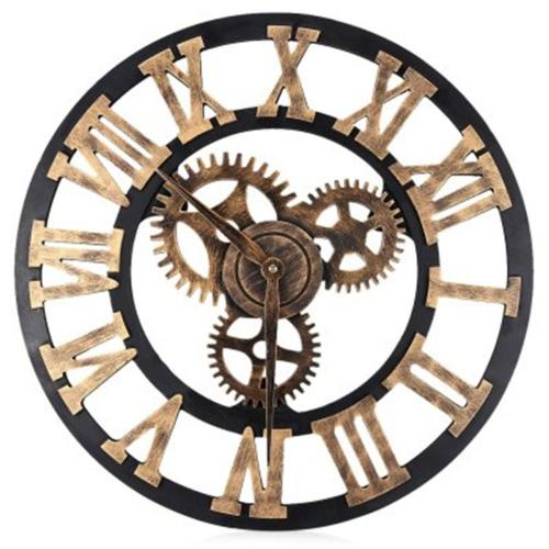Medium Crop Of Large Wall Clock With Gears