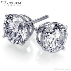Small Crop Of 1 Carat Diamond Stud Earrings