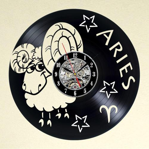 Wonderful Zodiac Aries Vinyl Record Wall Clock Decorate Your Home Art Gift Girlfriend Clocks Clocksfor Sale Zodiac Aries Vinyl Record Wall Clock Decorate Your Home Boyfriend