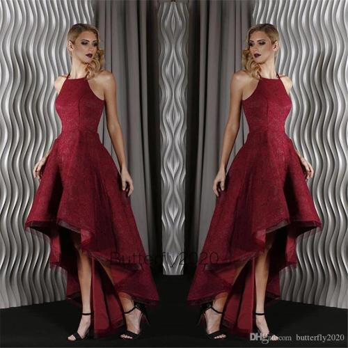 Majestic Sparkly Burgundy Lace Low Prom Dresses 2017 Halter Neck Puffy Skirtball Gown Prom Party Gowns Evening Wear Prom Dresses Shop Prom Dressesvintage From Sparkly Burgundy Lace Low Prom Dresses 20