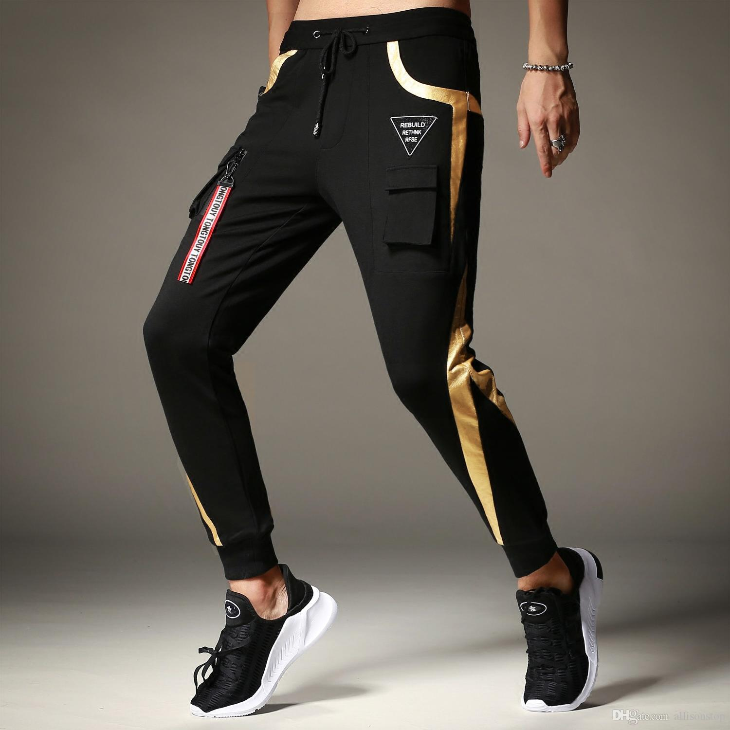 Luxurious 2018 New Arrival Mens Causal Pants Sports Thick Personality Slim Fit Boystrousers Harlan Athletic Hip Hop Sweatpants Oversize M Loose Long 2018 New Arrival Mens Causal Pants Sports Thick Per houzz-02 Boys Athletic Pants