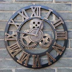 Small Crop Of Large Wall Clocks With Gears