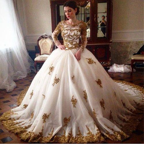 Medium Crop Of Gold Wedding Dress