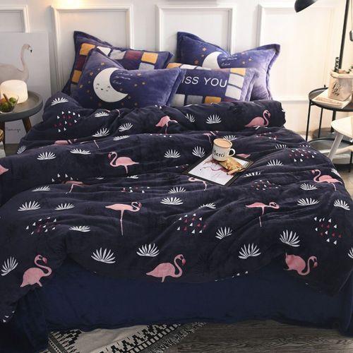 Interesting Flannelduvet Cover Bed Sheets Pillowcase Bedding Sets Online Deep Blue Duvet Cover Set Plants Flamingo Bedding Sets Soft Flamingo Bedding Sets Soft And Deep Blue Duvet Cover Set Plants