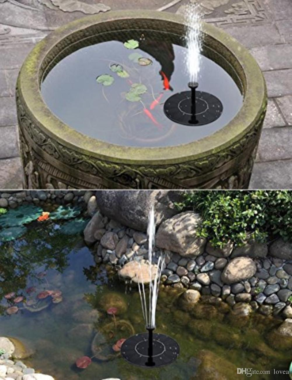 Prodigious Battery Upgraded Submersible Solar Fountain Pump Bird Lawn Solarfountain Solar Fountain Pump Battery Upgraded Submersible Solarwater Fountain Panel Kit houzz-03 Solar Fountain Pump