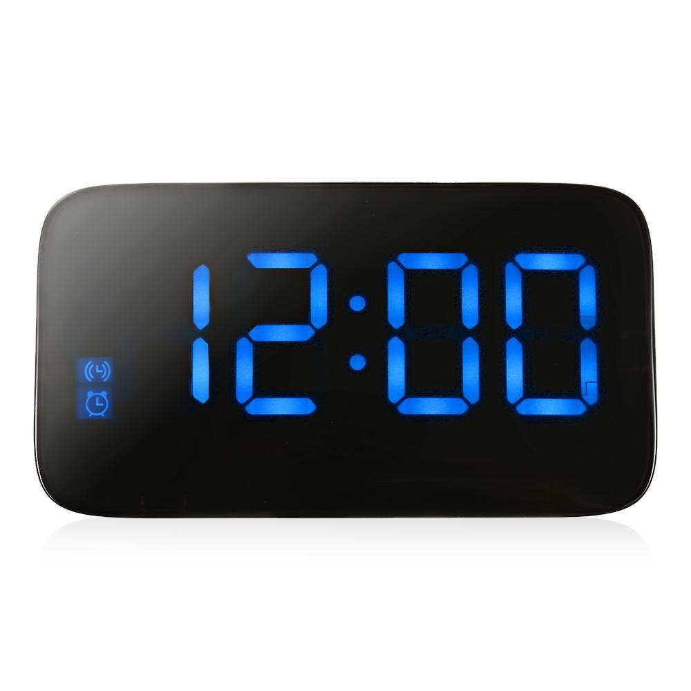Glancing Led Digital Desk Alarm Clocks Voice Control Time Display Clockbig Numbers Electronic Clocks Alarm Clock Desk Alarm Clock Electronicclock Led Digital Desk Alarm Clocks Voice Control Time Displ houzz-03 Modern Alarm Clock