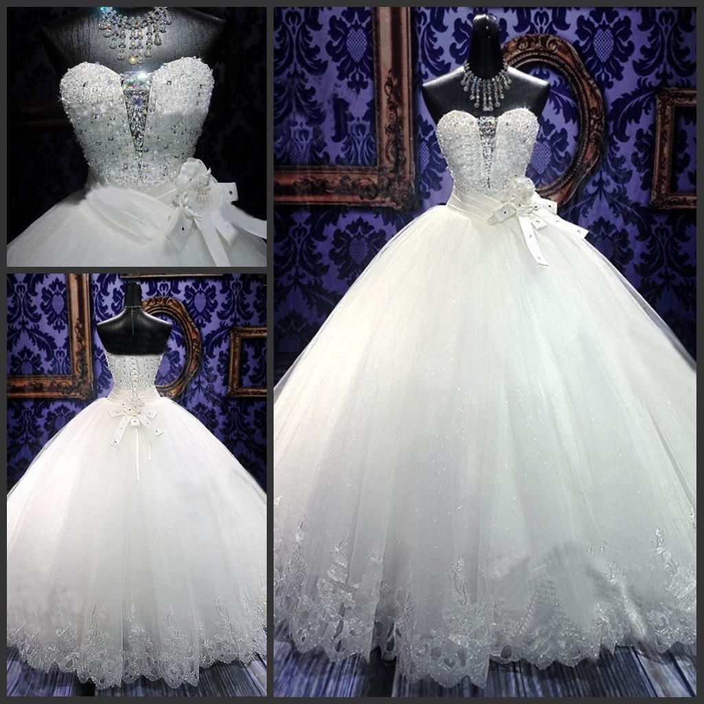 bling princess wedding dresses cinderella style wedding dress Princess Wedding Dresses Discount Real Photos Tulle Wedding Dresses