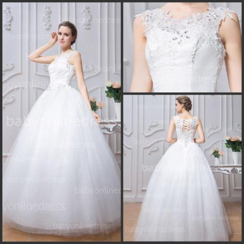 Medium Crop Of White Wedding Dress