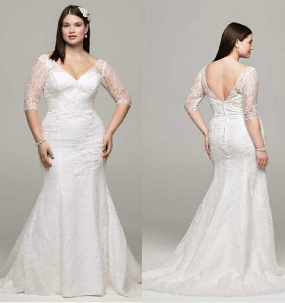plus size wedding dresses nj plus sized wedding dresses Plus size wedding dresses nj Plus Size Sexy Lace V Neck Wedding Dresses Mermaid