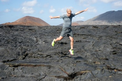 Galapagos Cruise - Santiago Island: Lava flow from 1897