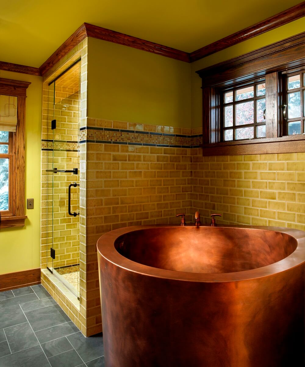 Ideal Copper Japanese Soaking Bath Round Japanese Soaking Tubs Japanese Baths Outdoor Soaking Tub Japanese Style Bathrooms Japanese Style Bathroom Renovation houzz 01 Japanese Style Bathroom