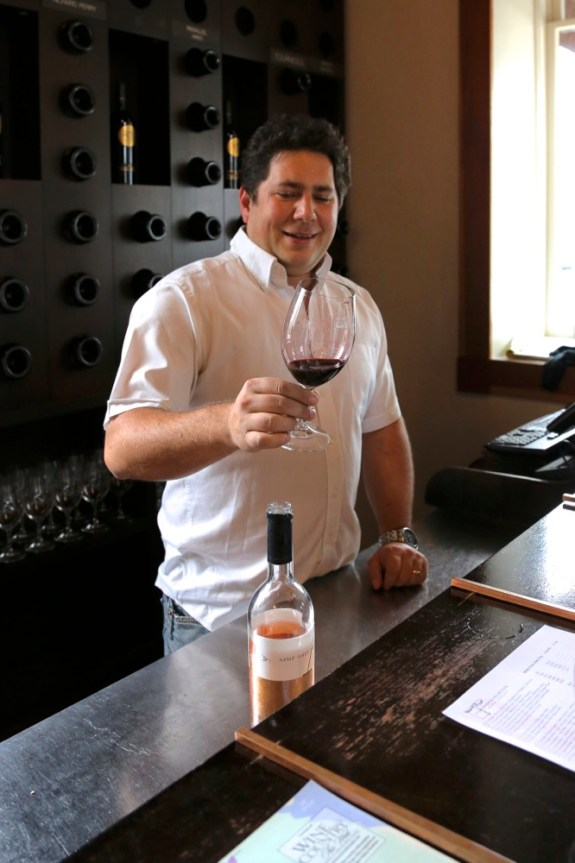 Julien Fayard, co owner and winemaker of Azur