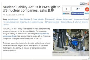 BJP nuclear liability