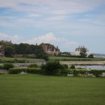 A view of the other seaside mansions from Rosecliff