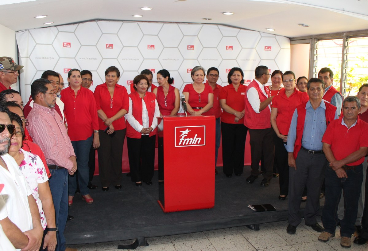 Secretarías departamentales piden reelección  de Medardo González al frente del FMLN