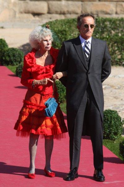 duchess at wedding of rafael medina and laura vecino