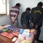 El jefe policial señaló que recuperaron más de 30 kilos kilos de mercancía de diferentes tipos de charcutería como jamón, mortadela y queso