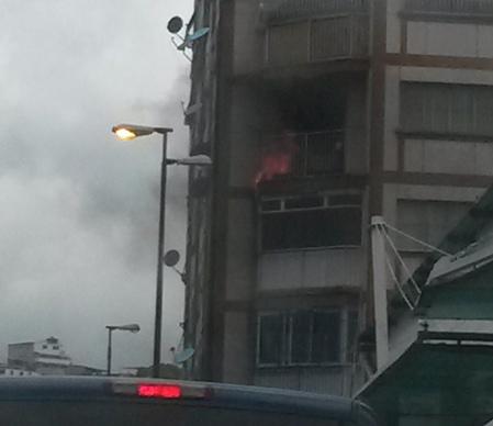 Apartamento casi se quema la tarde de ayer domingo