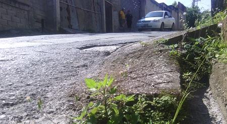 Hay huecos en la calle Libertador de El Vigía Foto: Deysi Peña