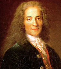 Voltaire(1694-1778)escritor,historiador,filósofoyabogadofrancésfue uno de los principales representantes de laIlustración. Miembro de laAcademia francesa. Fue iniciado en la masonería en París el martes 7 de abril de 1778 en la logia Les Neuf Soeurs