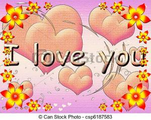 color-postal-corazones-dibujos_csp6187583