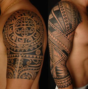 tatuajes-para-hombres-en-brazo-tribal-armadura