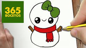 Dibujos Kawaii de Navidad faciles
