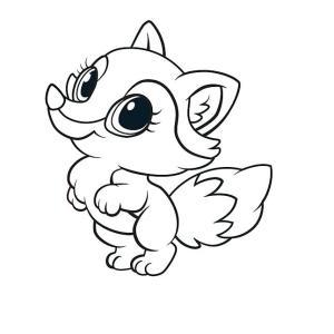 imagenes-de-zorro-para-colorear-dibujos-de-zorros-bebes-para-colorear
