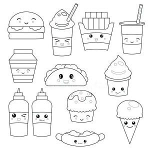 kawaii-para-colorear-stock-illustration-cute-faces-emoticons-fresh-para-dibujos-kawaii-para-colorear-unicornios
