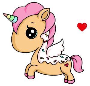 Dibujos de unicornios muy kawai