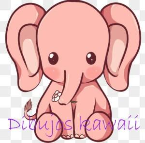 elefante kawaii