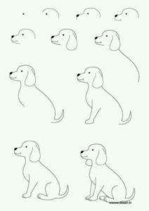Dibujos fáciles para dibujar perro